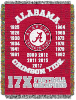 NCAA Alabama Crimson Tide Commemorative 48x60 Tapestry Throw