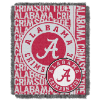 NCAA Alabama Crimson Tide FOCUS 48x60 Triple Woven Jacquard Throw