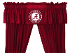 NCAA Alabama Crimson Tide Valance - Locker Room Series