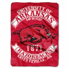 NCAA Arkansas Razorbacks 60x80 Super Plush Throw