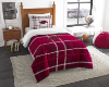 NCAA Arkansas Razorbacks Twin Comforter with Sham