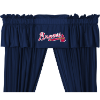 MLB Atlanta Braves Valance - Locker Room Series