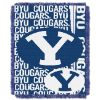 NCAA BYU Cougars FOCUS 48x60 Triple Woven Jacquard Throw