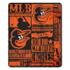 MLB Baltimore Orioles 50x60 Fleece Throw Blanket