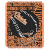 MLB Baltimore Orioles 48x60 Triple Woven Jacquard Throw