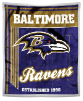 NFL Baltimore Ravens Sherpa MINK 50x60 Throw Blanket