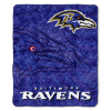 NFL Baltimore Ravens Sherpa STROBE 50x60 Throw Blanket