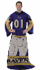 NFL Baltimore Ravens Uniform Huddler Blanket With Sleeves