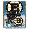NHL Boston Bruins Home Ice Advantage 48x60 Tapestry Throw