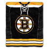 NHL Boston Bruins JERSEY 50x60 Raschel Throw