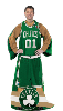 NBA Boston Celtics Uniform Huddler Blanket With Sleeves