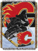 NHL Calgary Flames Home Ice Advantage 48x60 Tapestry Throw
