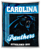 NFL Carolina Panthers Sherpa MINK 50x60 Throw Blanket