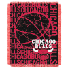 NBA Chicago Bulls 48x60 Triple Woven Jacquard Throw