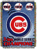 MLB Chicago Cubs Commemorative 48x60 Tapestry Throw