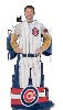 MLB Chicago Cubs Uniform Huddler Blanket With Sleeves