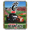 NCAA Cincinnati Bearcats Home Field Advantage 48x60 Tapestry Throw