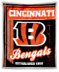 NFL Cincinnati Bengals Sherpa MINK 50x60 Throw Blanket