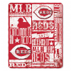 MLB Cincinnati Reds 50x60 Fleece Throw Blanket