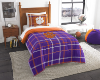 NCAA Clemson Tigers Twin Comforter with Sham