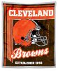NFL Cleveland Browns Sherpa MINK 50x60 Throw Blanket