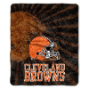NFL Cleveland Browns Sherpa STROBE 50x60 Throw Blanket