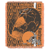 NFL Cleveland Browns SPIRAL 48x60 Triple Woven Jacquard Throw