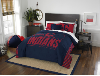 MLB Cleveland Indians QUEEN Comforter and 2 Shams