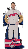 MLB Cleveland Indians Uniform Huddler Blanket With Sleeves