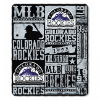 MLB Colorado Rockies 50x60 Fleece Throw Blanket