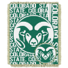 NCAA Colorado State Rams FOCUS 48x60 Triple Woven Jacquard Throw