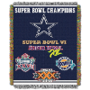 NFL Dallas Cowboys Commemorative 48x60 Tapestry Throw