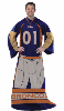 NFL Denver Broncos Uniform Huddler Blanket With Sleeves