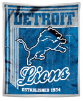 NFL Detroit Lions Sherpa MINK 50x60 Throw Blanket
