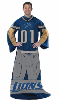 NFL Detroit Lions Uniform Huddler Blanket With Sleeves