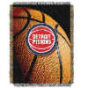 NBA Detroit Pistons Real Photo 48x60 Tapestry Throw