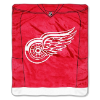 NHL Detroit Red Wings JERSEY 50x60 Raschel Throw
