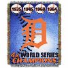 MLB Detroit Tigers Commemorative 48x60 Tapestry Throw