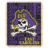 NCAA East Carolina Pirates FOCUS 48x60 Triple Woven Jacquard Throw