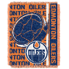 NHL Edmonton Oilers 48x60 Triple Woven Jacquard Throw