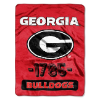 NCAA Georgia Bulldogs 50x60 Micro Raschel Throw