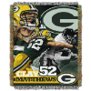 NFL Green Bay Packers Clay Mathews 48x60 Tapestry Throw