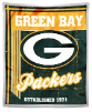NFL Green Bay Packers Sherpa MINK 50x60 Throw Blanket
