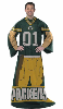 NFL Green Bay Packers Uniform Huddler Blanket With Sleeves