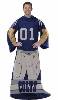 NFL Indianapolis Colts Uniform Huddler Blanket With Sleeves
