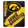 NCAA Iowa Hawkeyes 50x60 Fleece Throw Blanket