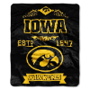 NCAA Iowa Hawkeyes 50x60 Raschel Throw Blanket