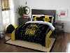 NCAA Iowa Hawkeyes QUEEN Comforter and 2 Shams