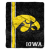NCAA Iowa Hawkeyes Sherpa 50x60 Throw Blanket