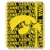 NCAA Iowa Hawkeyes FOCUS 48x60 Triple Woven Jacquard Throw